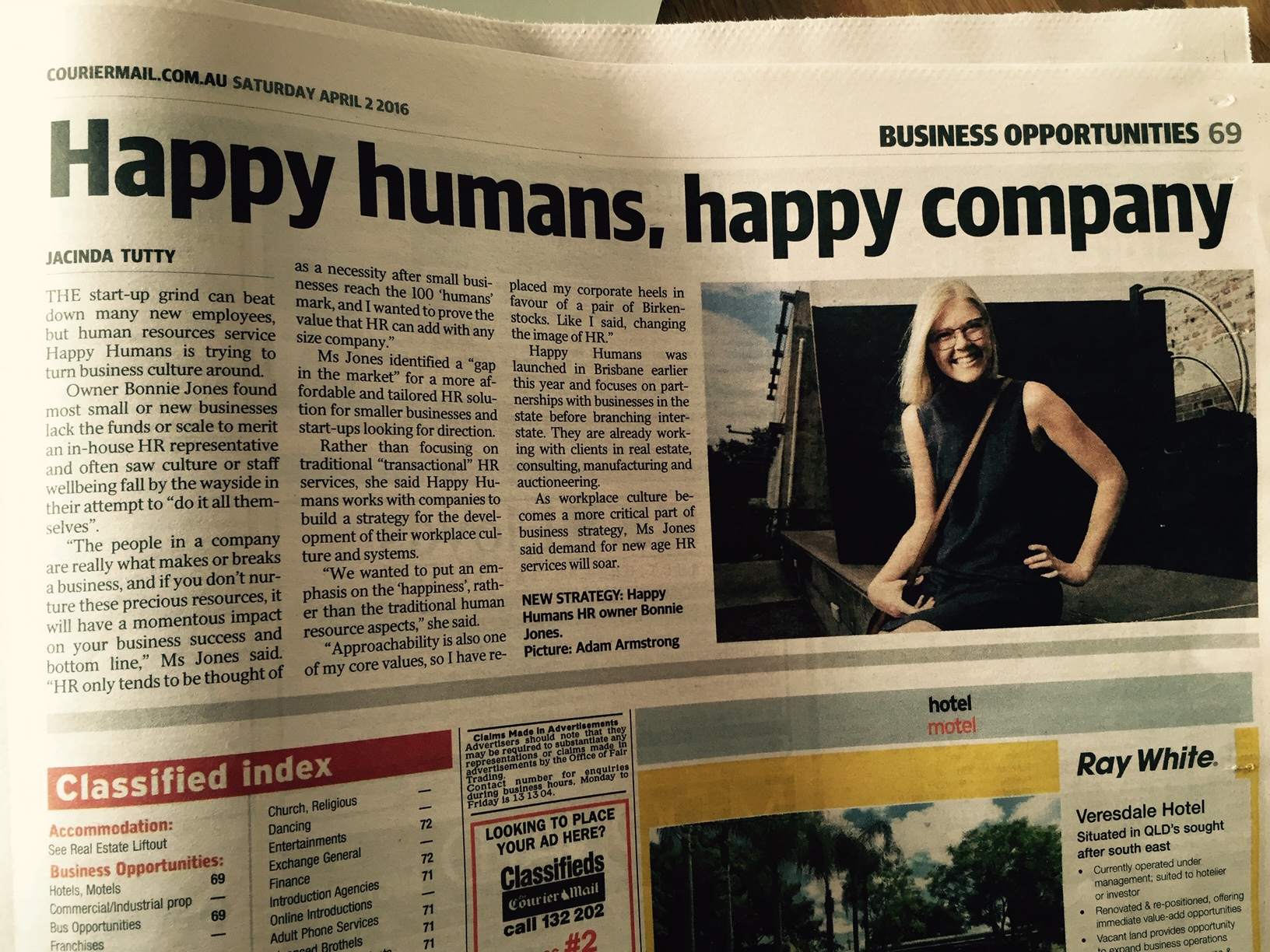 happy humans courier mail